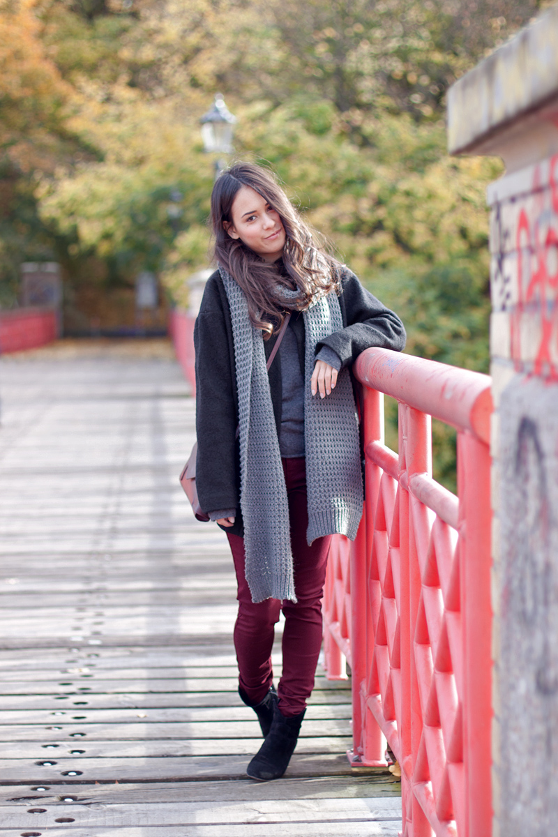 Mit Hosen Outfits Fashion Bitte Inspiration Bordeauxroten 8NknP0wOX