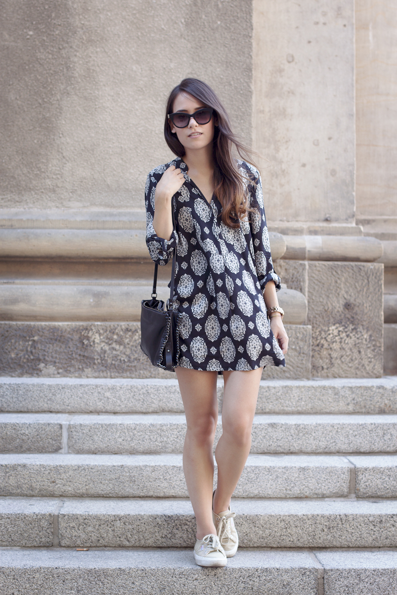 Patterned Dress Outfit