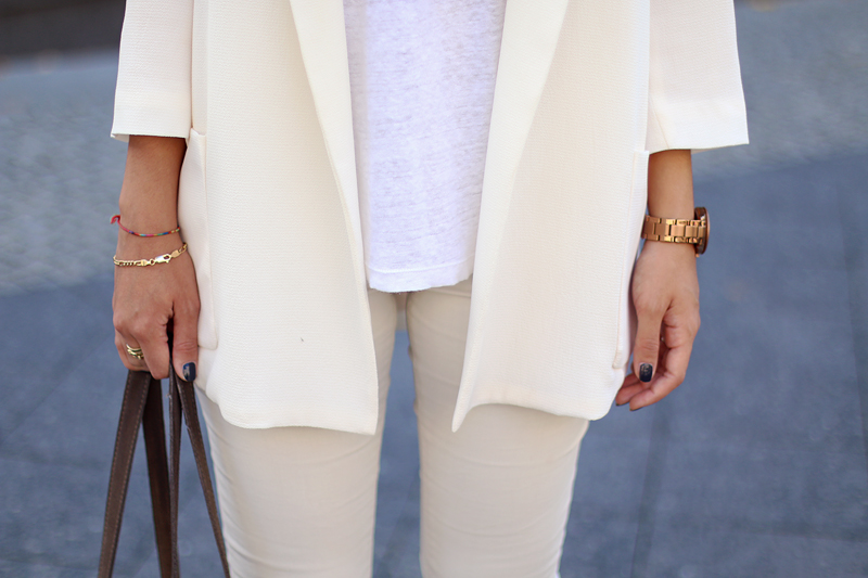 Outfit: tone on tone All white