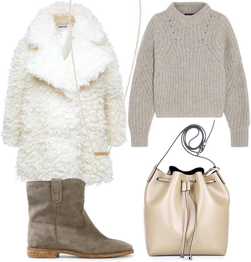 Sunday's Cravings Wishlist All-White Grey Outfit
