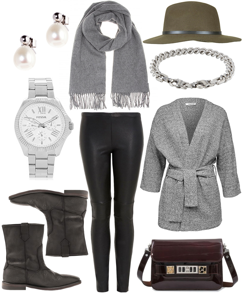 Sunday's Cravings Wishlist Proenza Schouler PS11 Fedora Hat Leather Leggings Acne Canada Scarf