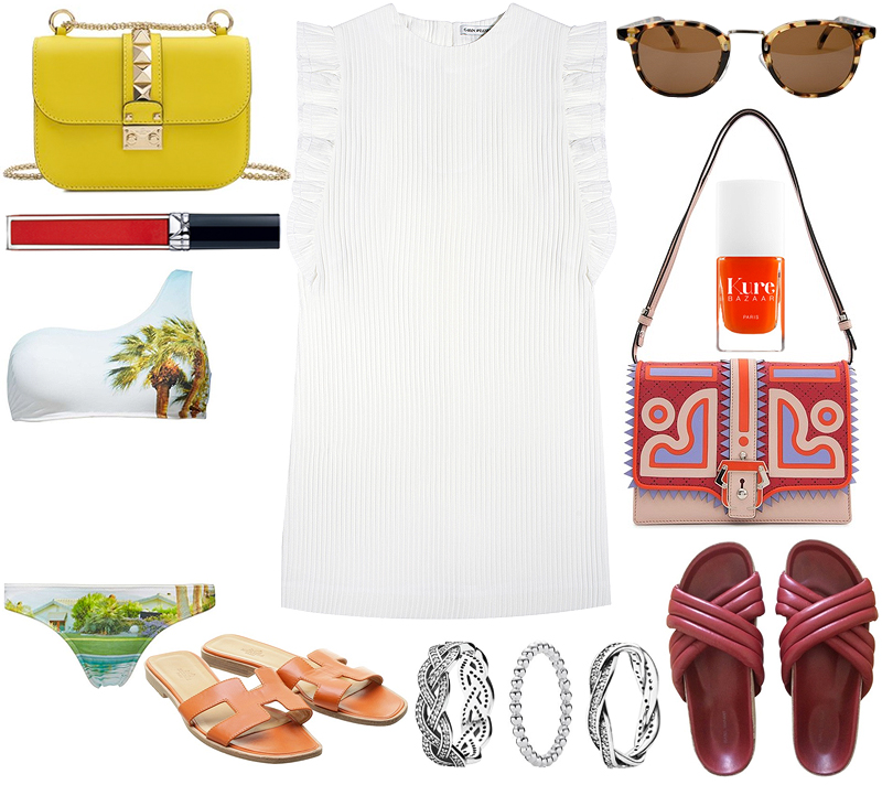 On my wishlist: Carin Wester Doya Dress, Valentino Lock Bag and other colorful Accessoires