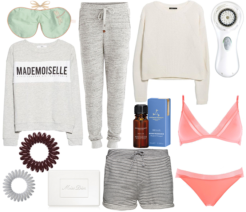 Sweatpants, sweaters and some beauty treats for a cosy sunday